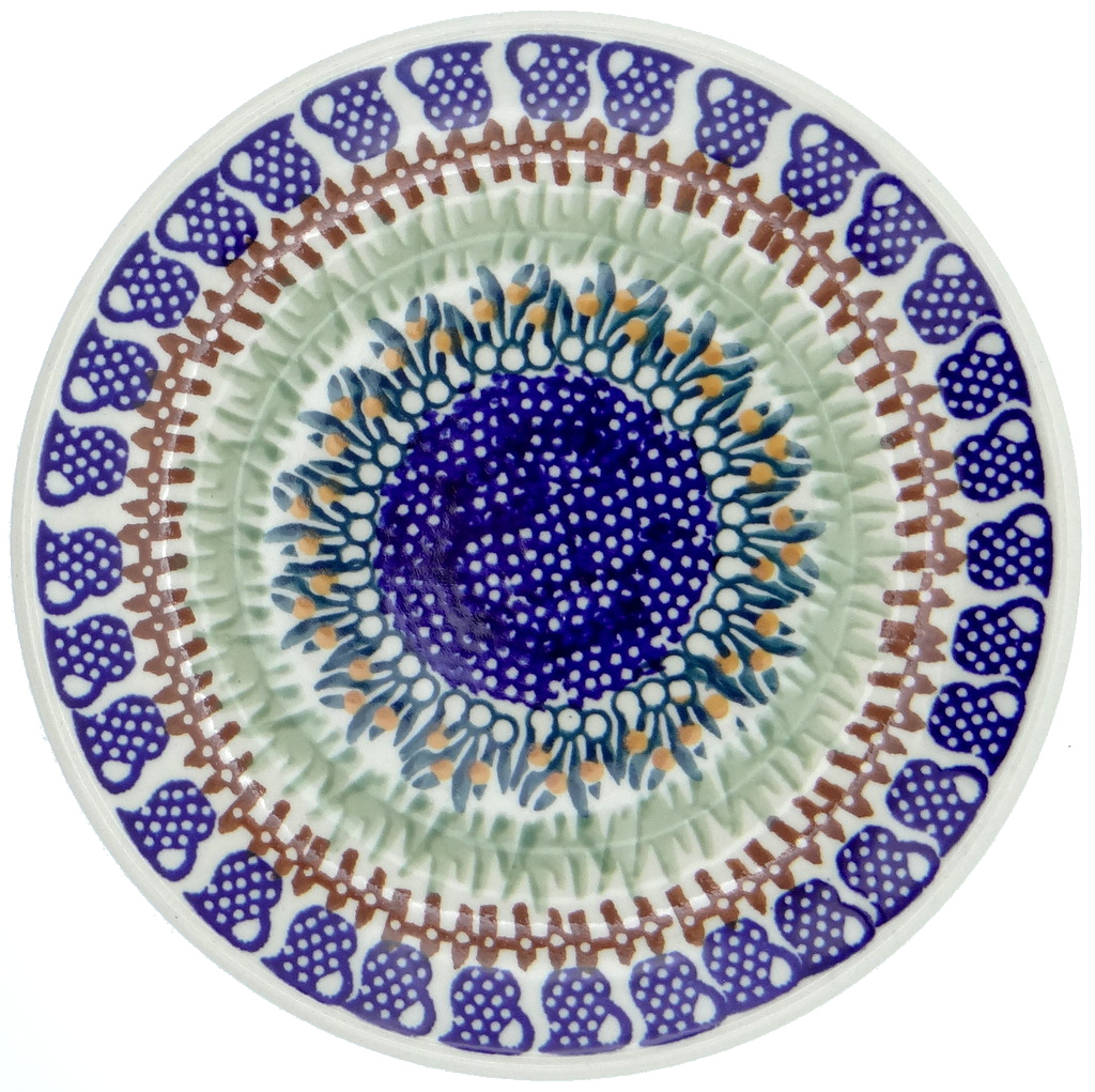 SilverrushStyle - Polish Pottery Dessert Plate - Cobalt Blue Collection 119822