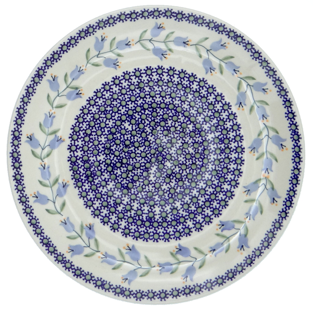 SilverrushStyle - Polish Pottery Large Dinner Plate - Lilies of the valley Collection 120084