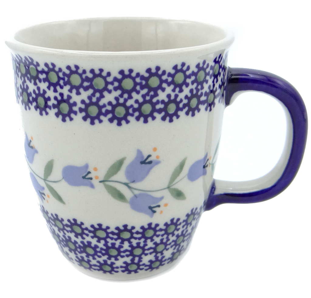 SilverrushStyle - Polish Pottery Coffee Mug - Lilies of the valley Collection 120093