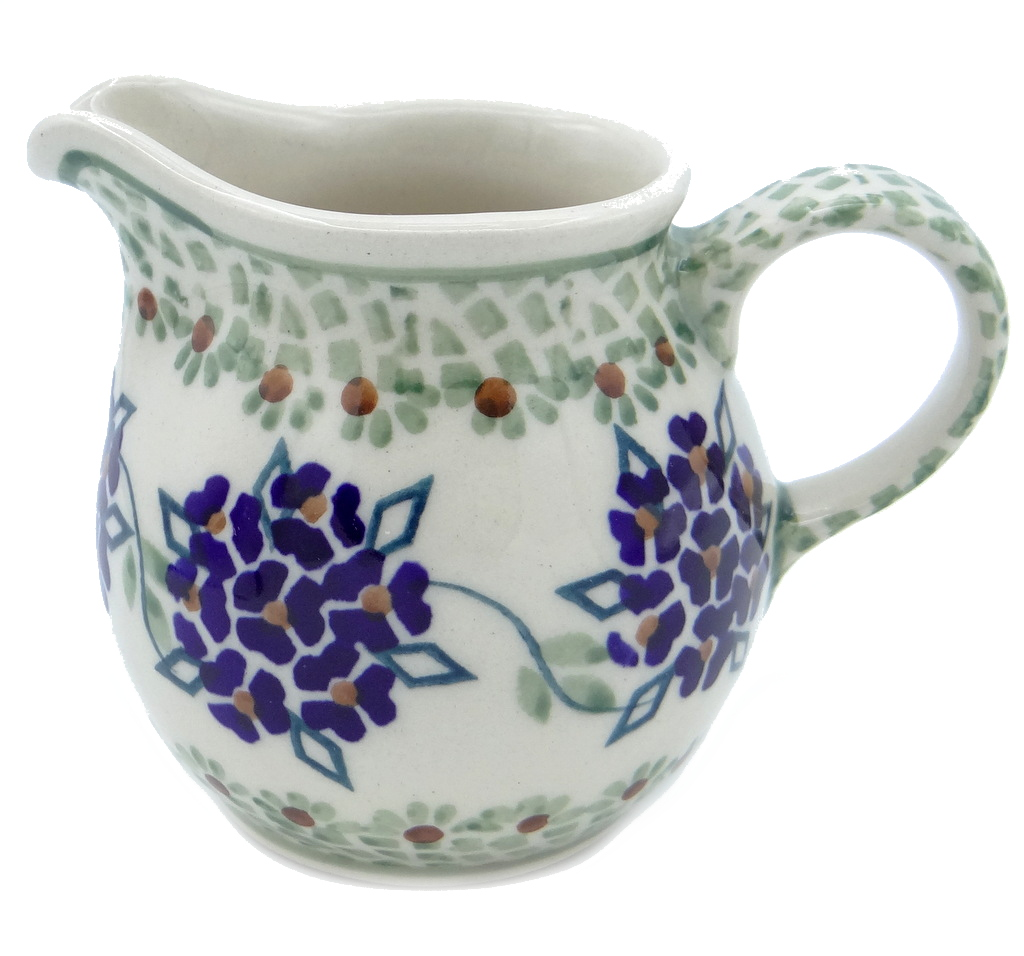 SilverrushStyle - Polish Pottery Creamer - Forget-Me-Nots Collection 120135