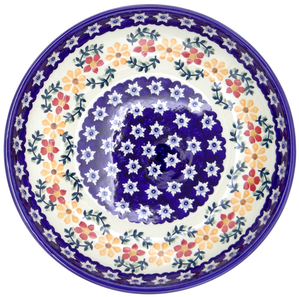 SilverrushStyle - Polish Pottery Large Pasta Bowl - Sunflowers collection 120304