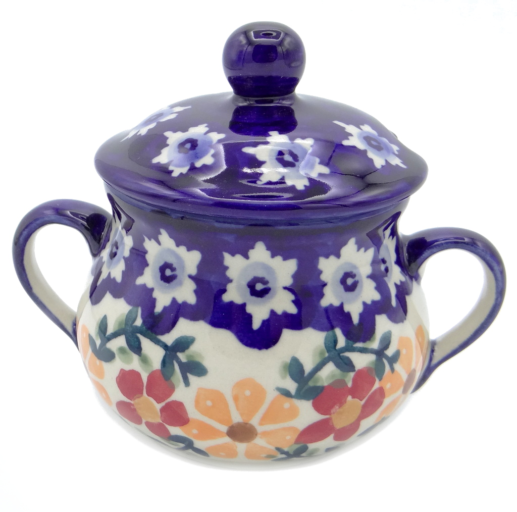 SilverrushStyle - Polish Pottery Sugar Bowl- Sunflowers Collection