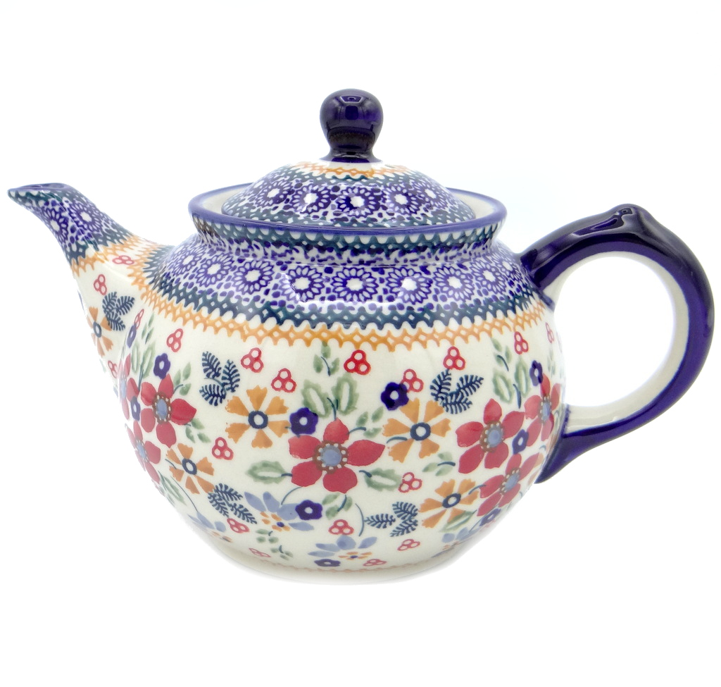 SilverrushStyle - Polish Pottery Regular Teapot - Wonderful Garden Collection 120322