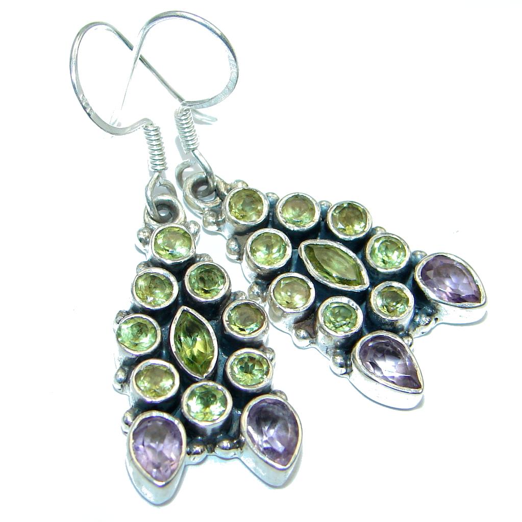 Great Peridot Sterling Silver handmade earrings