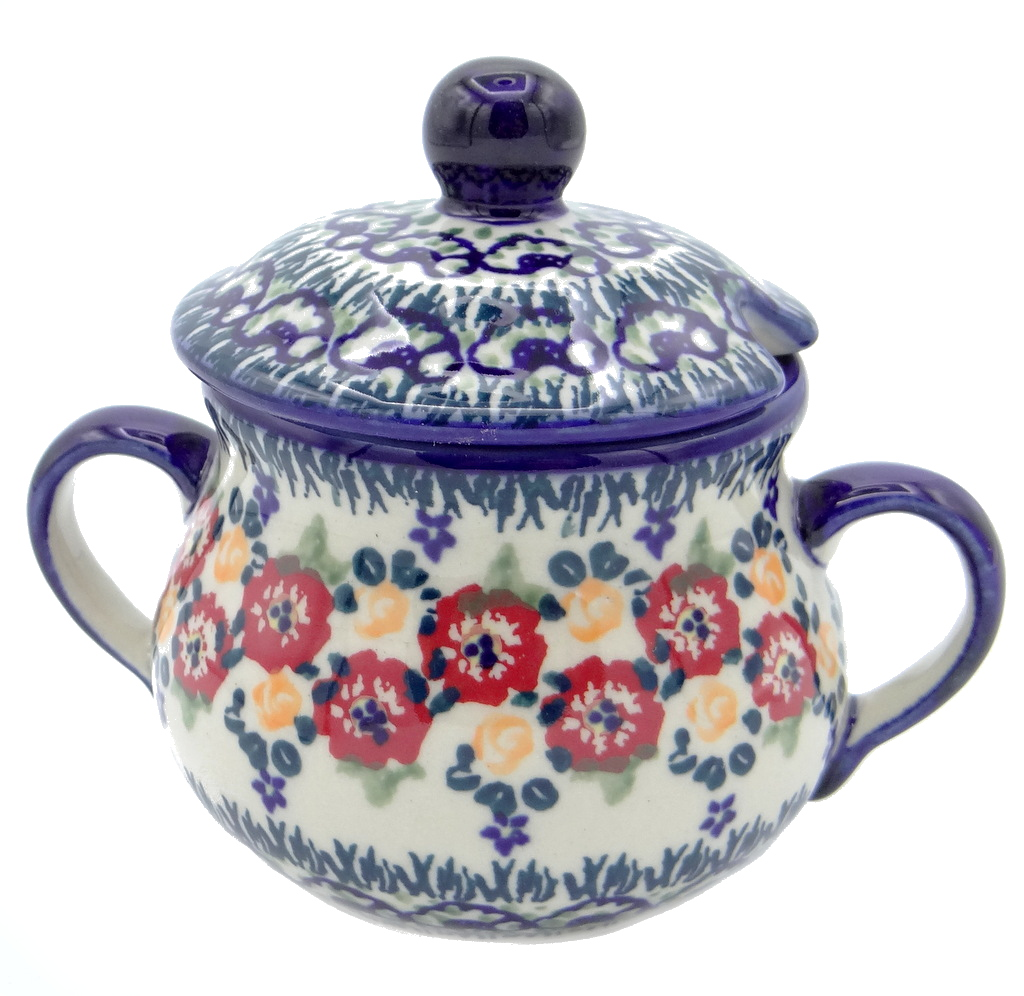 SilverrushStyle - Polish Pottery Sugar Bowl - Summer Bouquet Collection 120479