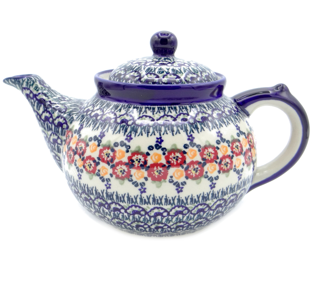 SilverrushStyle - Polish Pottery Large Teapot - Summer Bouquet Collection 120481