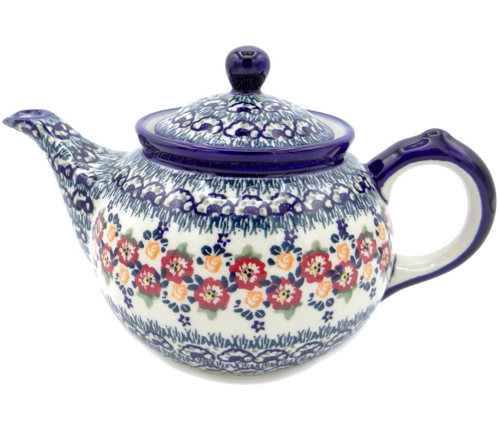 SilverrushStyle - Polish Pottery Regular Teapot - Summer Bouquet Collection 120482