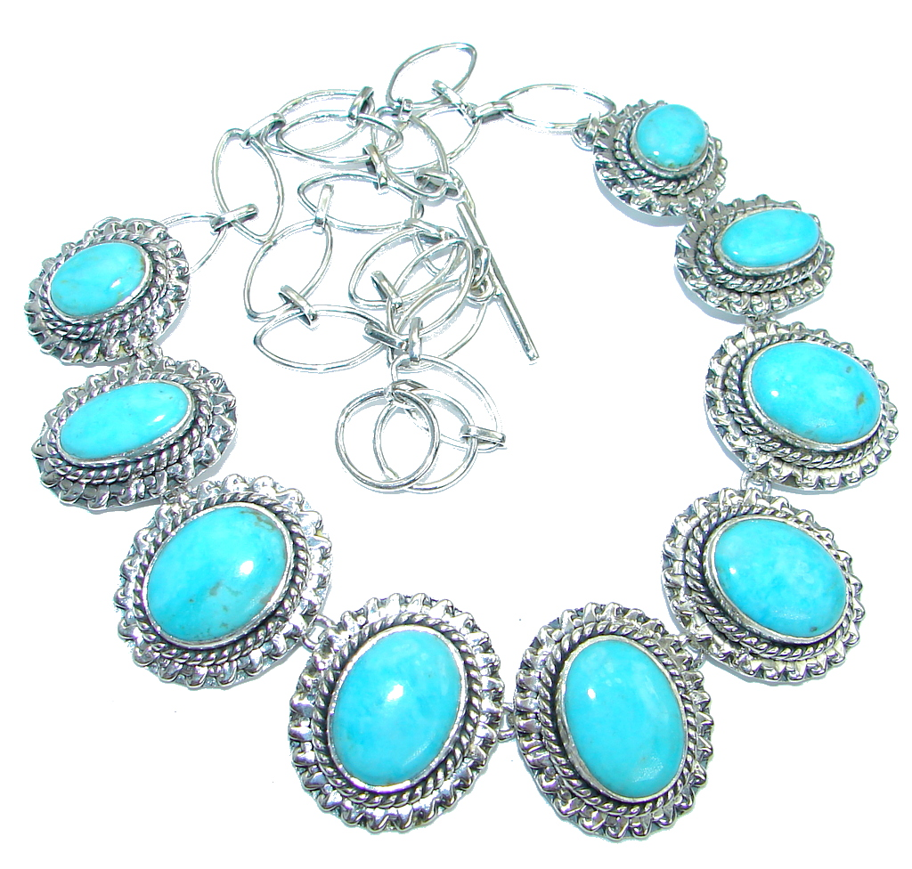 American Spirit Natural Sleeping Beauty Turquoise Sterling Silver handmade Necklace