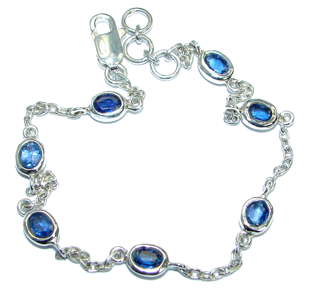 Special Item natural Sapphire .925 Sterling Silver Bracelet