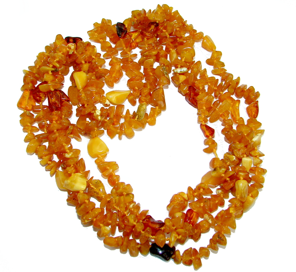 78 inches long Fabulous Natural Baltic Amber handcrafted  Necklace