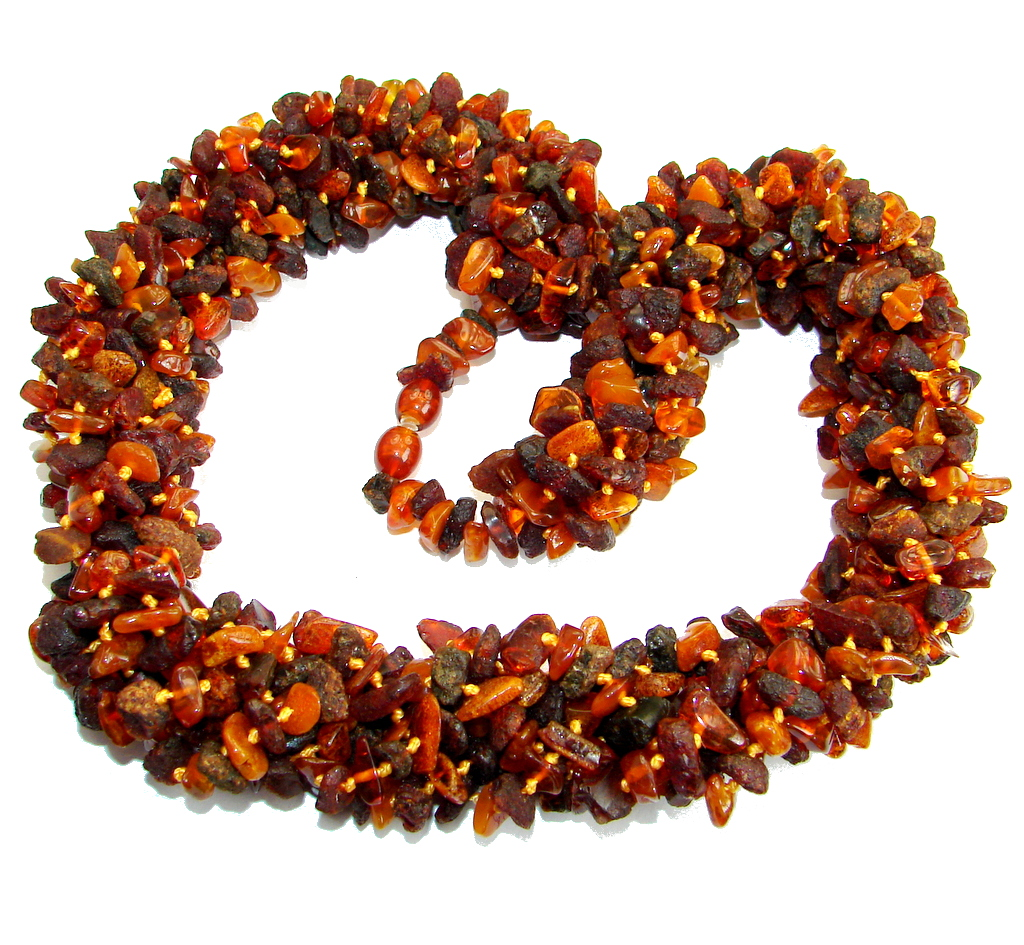 Huge Fabulous Natural Baltic Amber handcrafted  Necklace