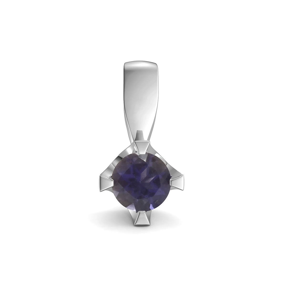 Elegant pendant in sterling silver with a iolite