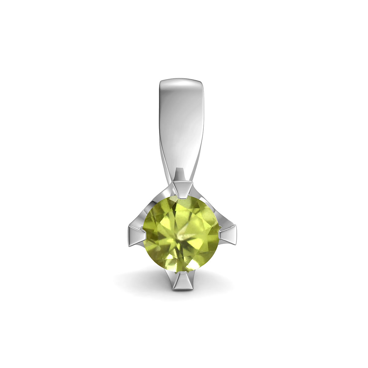 Elegant pendant in sterling silver with a peridot
