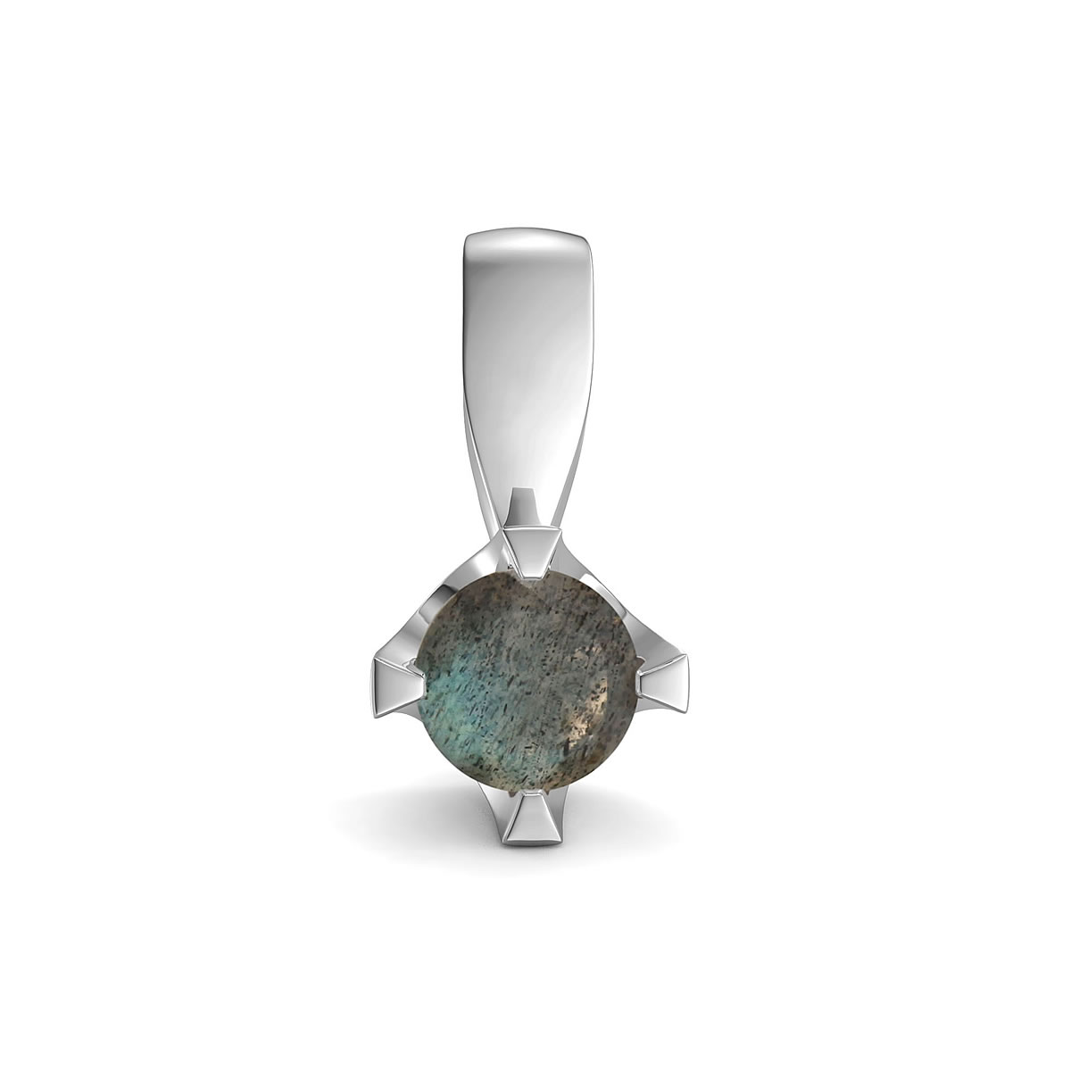 Elegant pendant in sterling silver with a labradorite