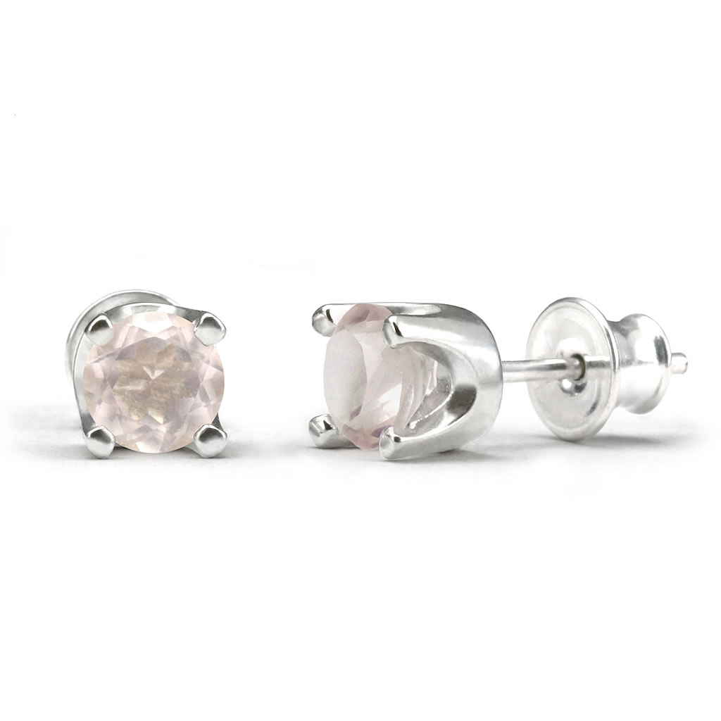 Elegant studs in sterling silver with a