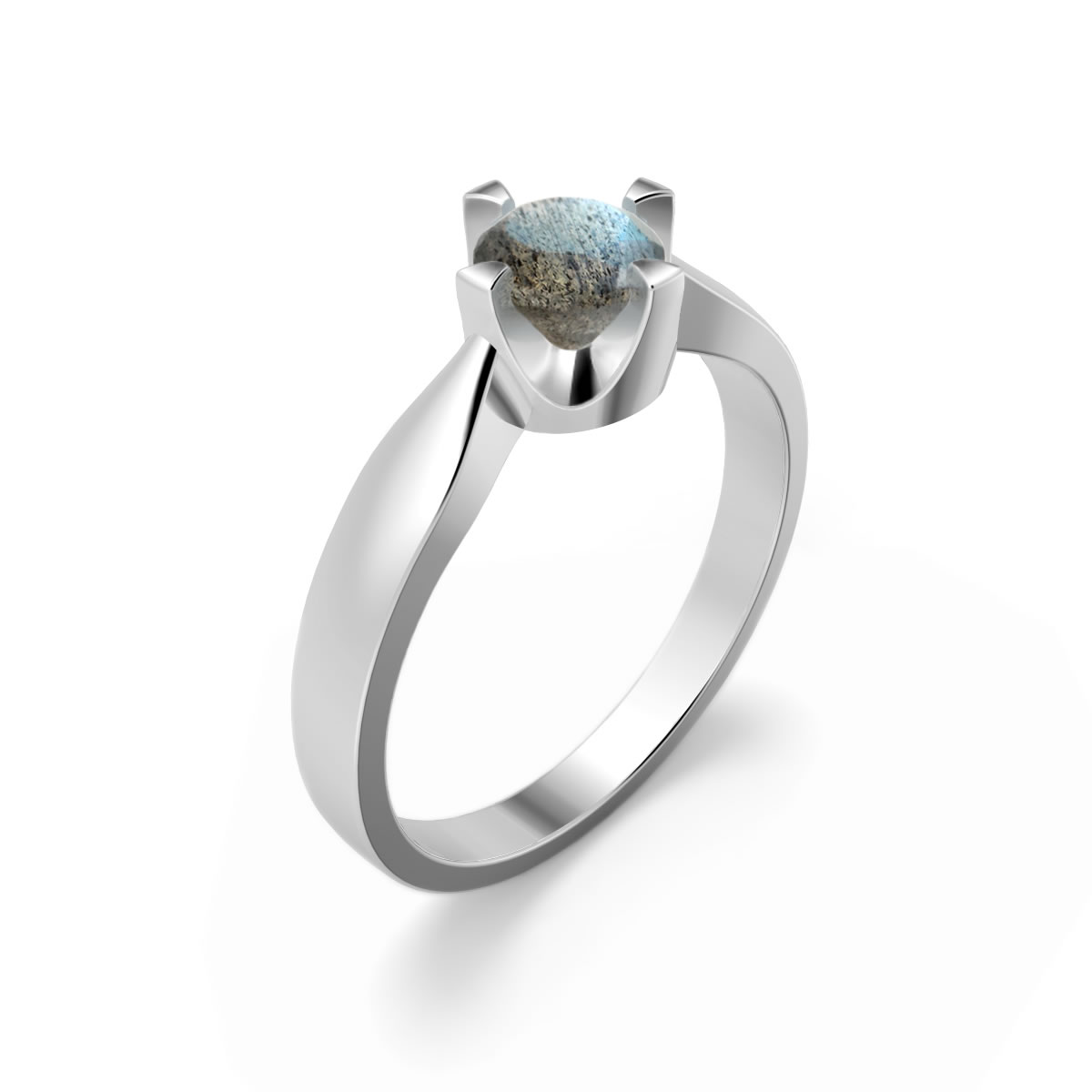 Elegant ring in sterling silver with a labradorite