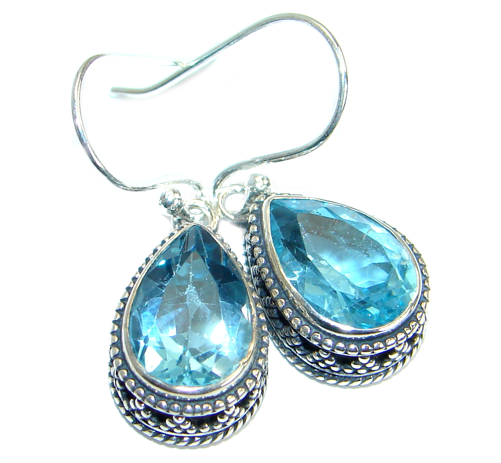 Rich Design Swiss Blue Topaz  .925 Sterling