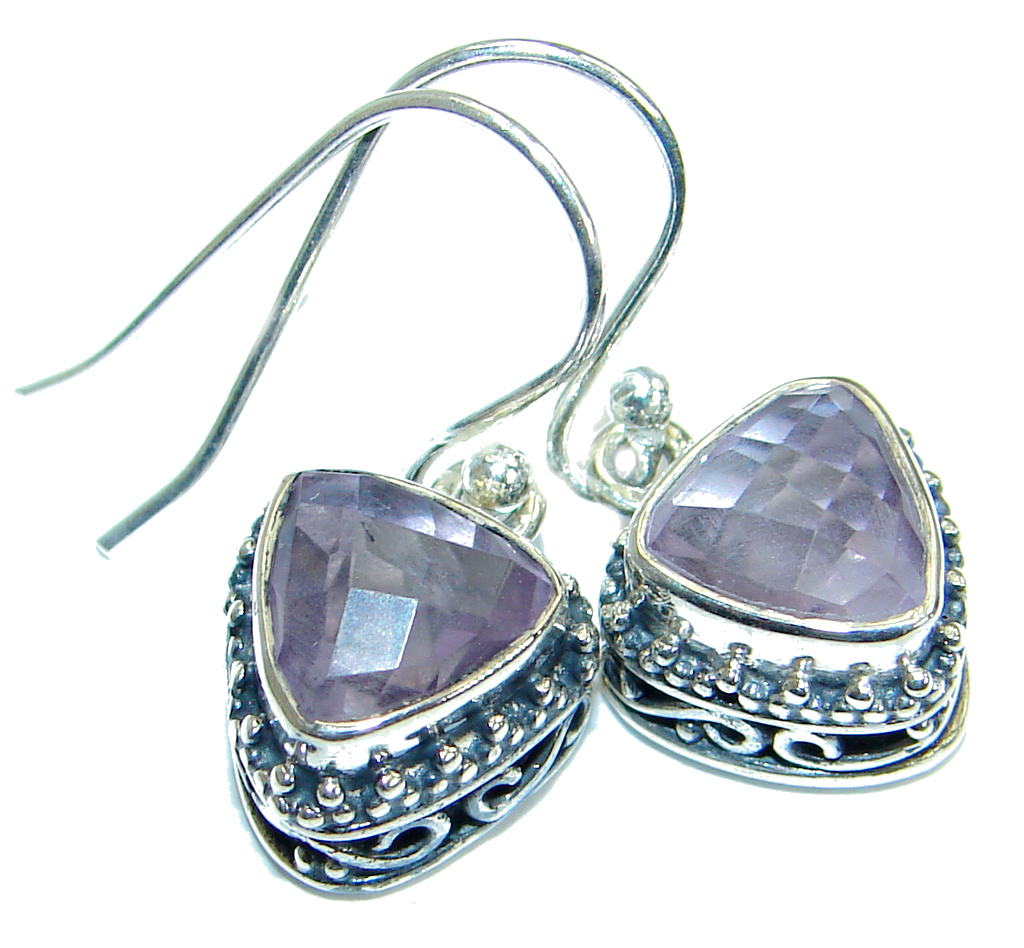 Rich Design Authentic Amethyst .925 Sterling Silver
