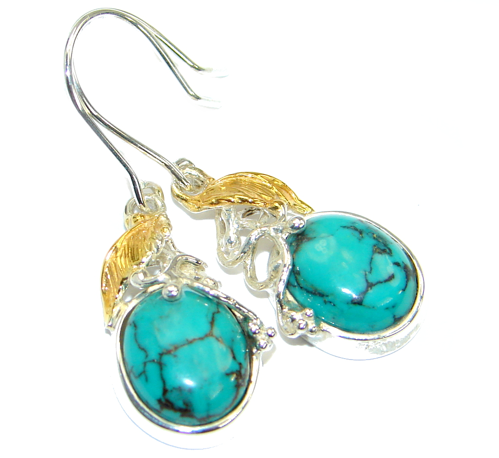 Sublime Style Turquoise two tones .925 Sterling