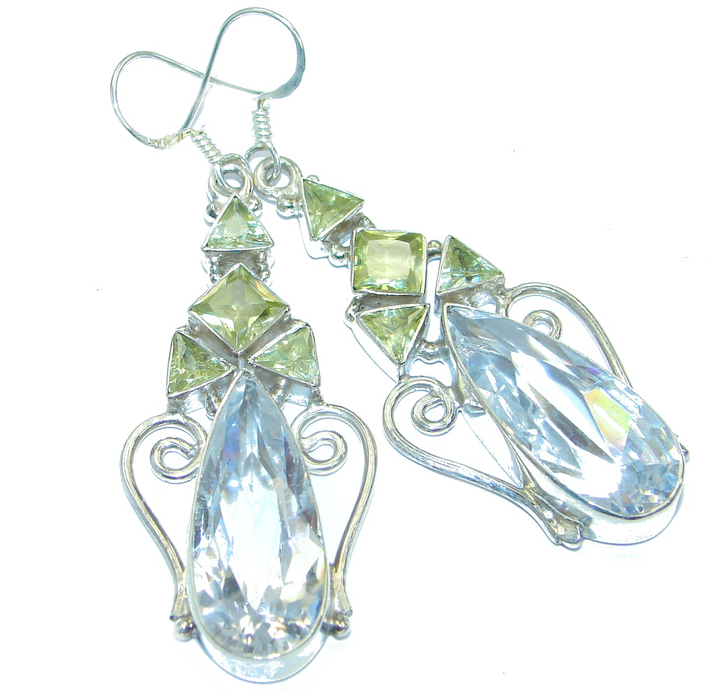 White Cubic Zirconia  .925 Sterling Silver  handmade