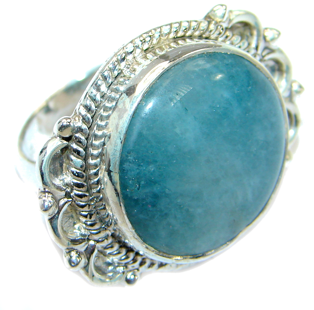 Passiom Fruit Natural Aquamarine .925 Sterling Silver Ring s. 6 125556