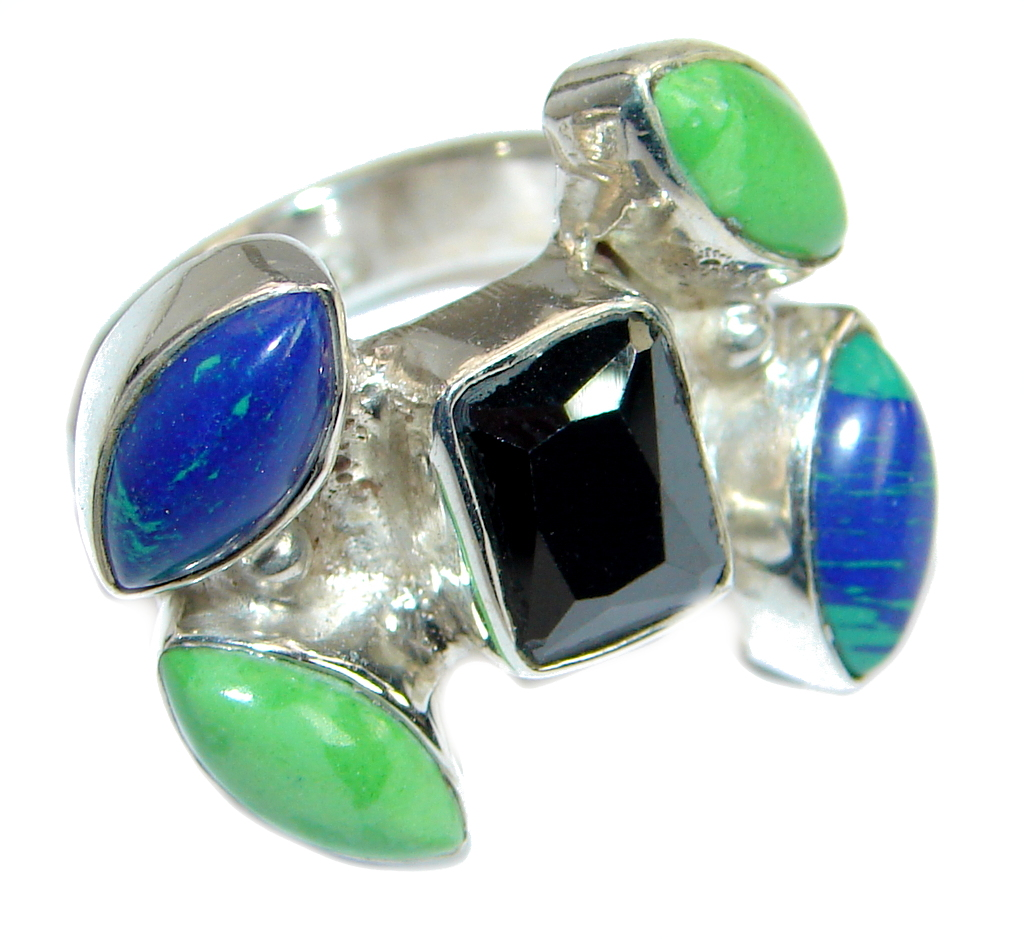 Colorful Multistone Sterling...