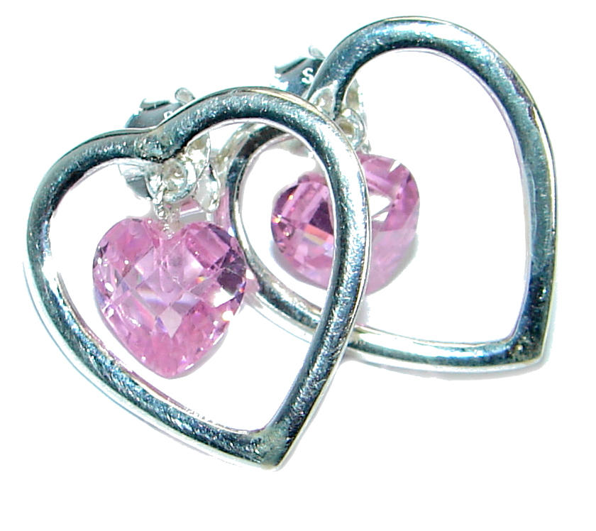 Pink Passion Topaz  .925 Sterling Silver earrings