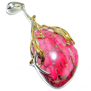 Julietta Purple Sea Sediment Jasper 14K Gold over .925 Sterling Silver handmade Pendant