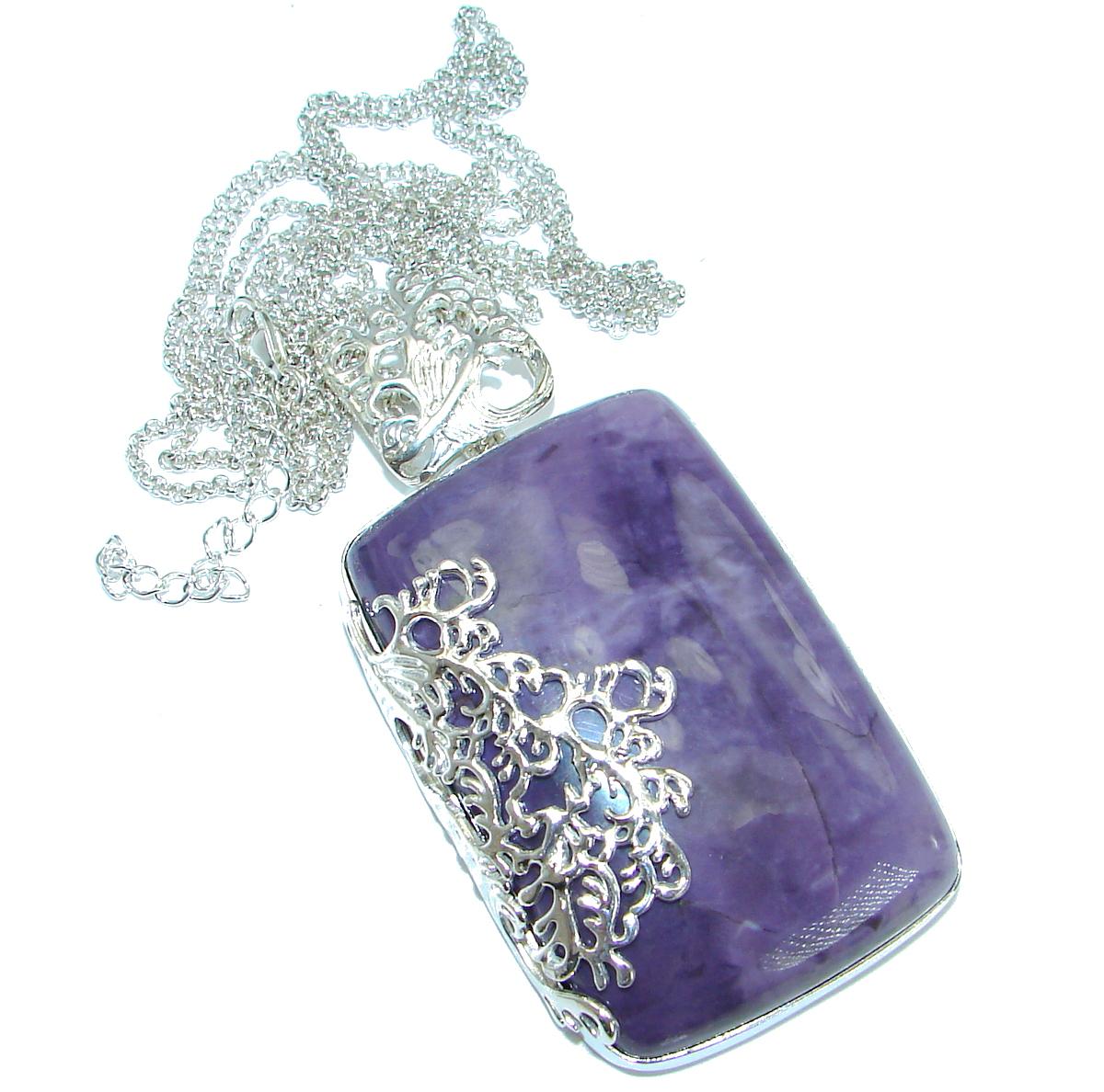 Vintage Design genuine Tiffany Jasper .925 Sterling Silver handcrafted necklace
