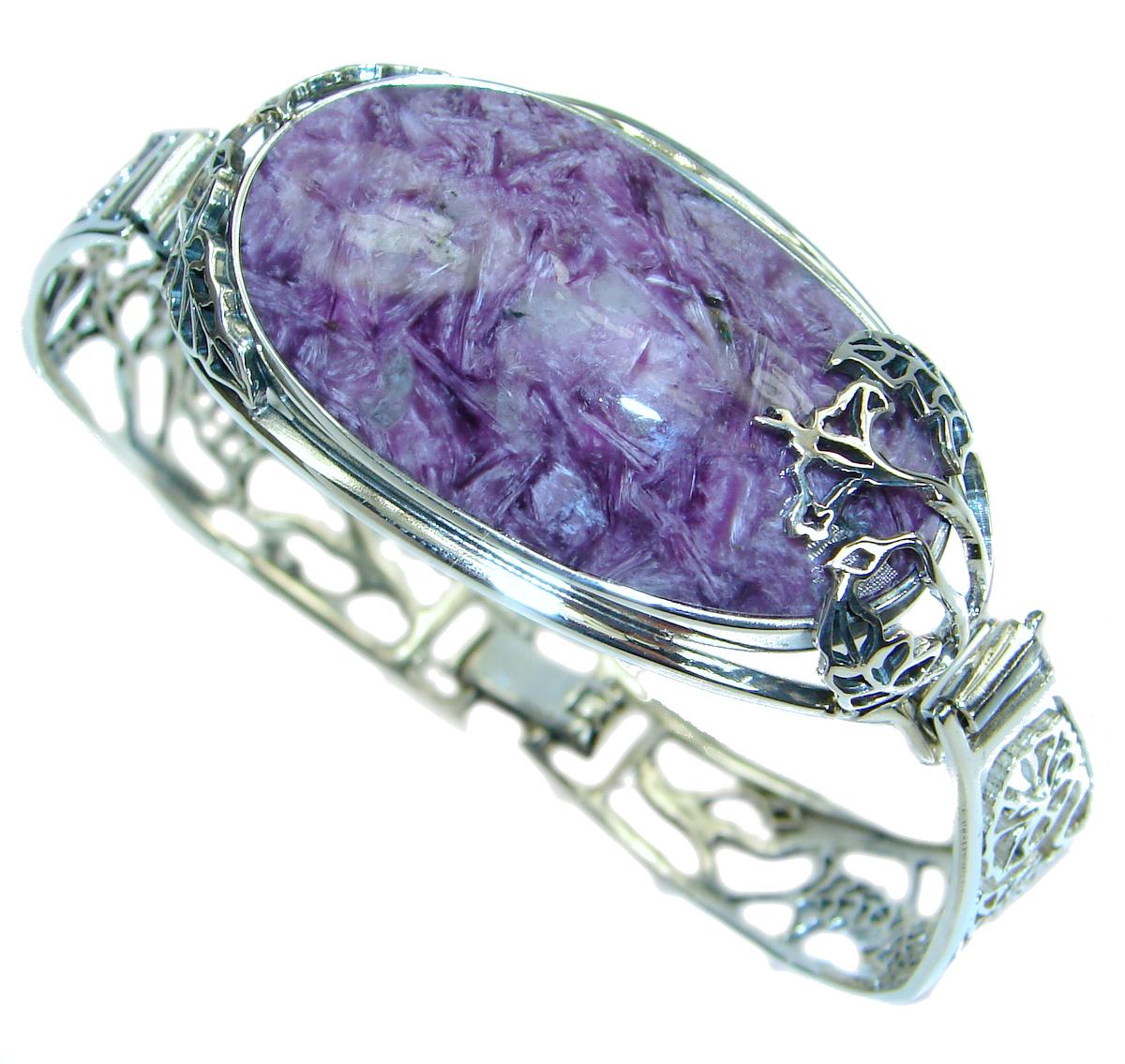 Lavender Dreams Authentic  Siberian Charoite .925 Sterling Silver handmade B..