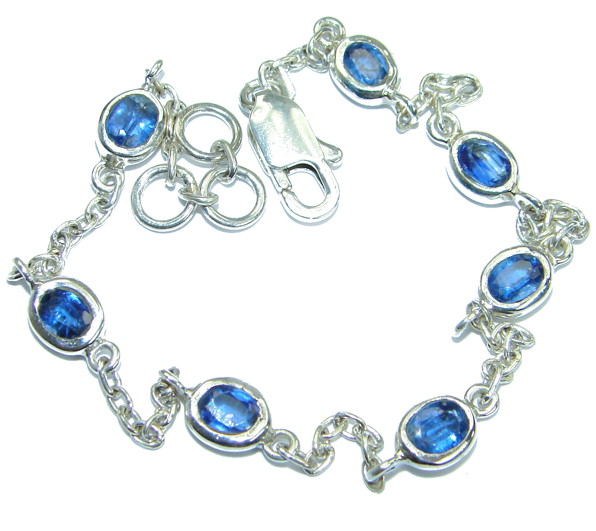 Special Item natural Sapphire .925 Sterling Silver handcrafted Bracelet
