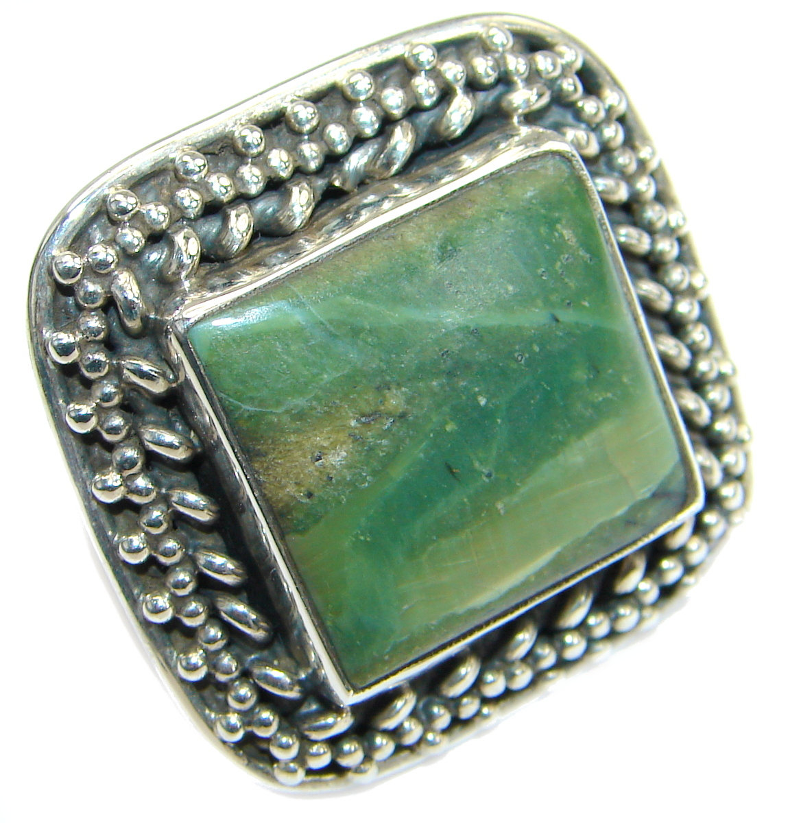 Silky Golden Obsidian .925 Sterling Silver handcrafted Ring Size 8 1/2