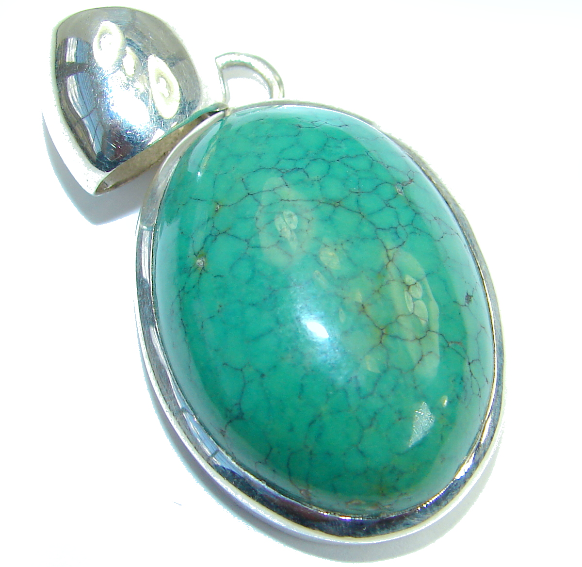 Simple Style Turquoise .925 Sterling Silver Pendant