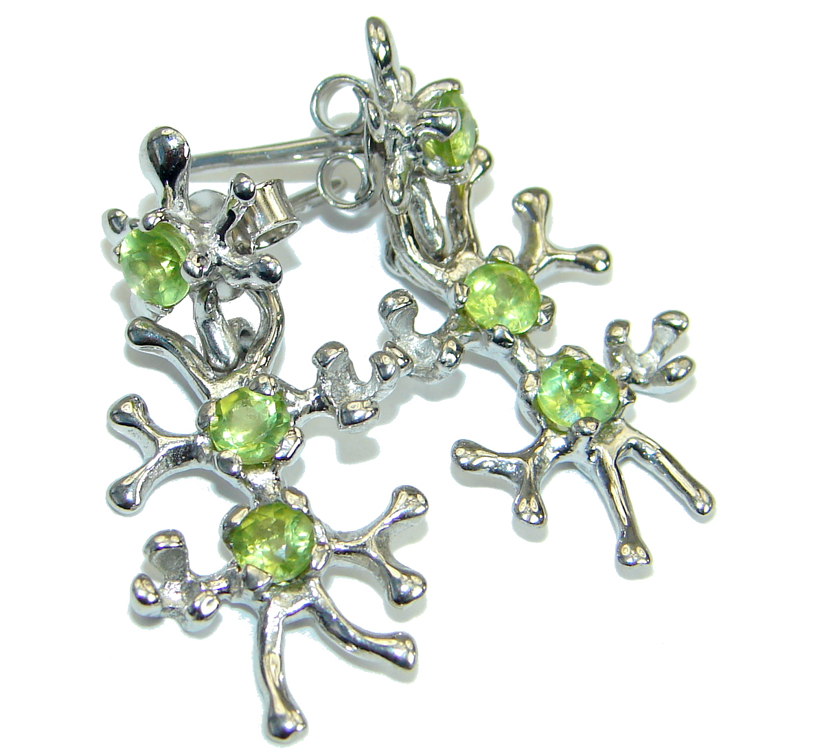 Nature Inspired Authentic    Peridot  .925 Sterling Silver