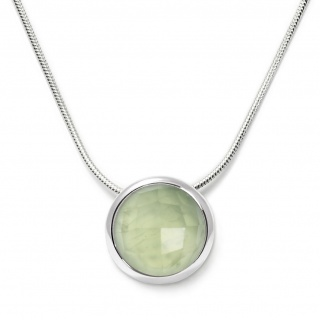 Charming necklace in sterling silver with a prehnite