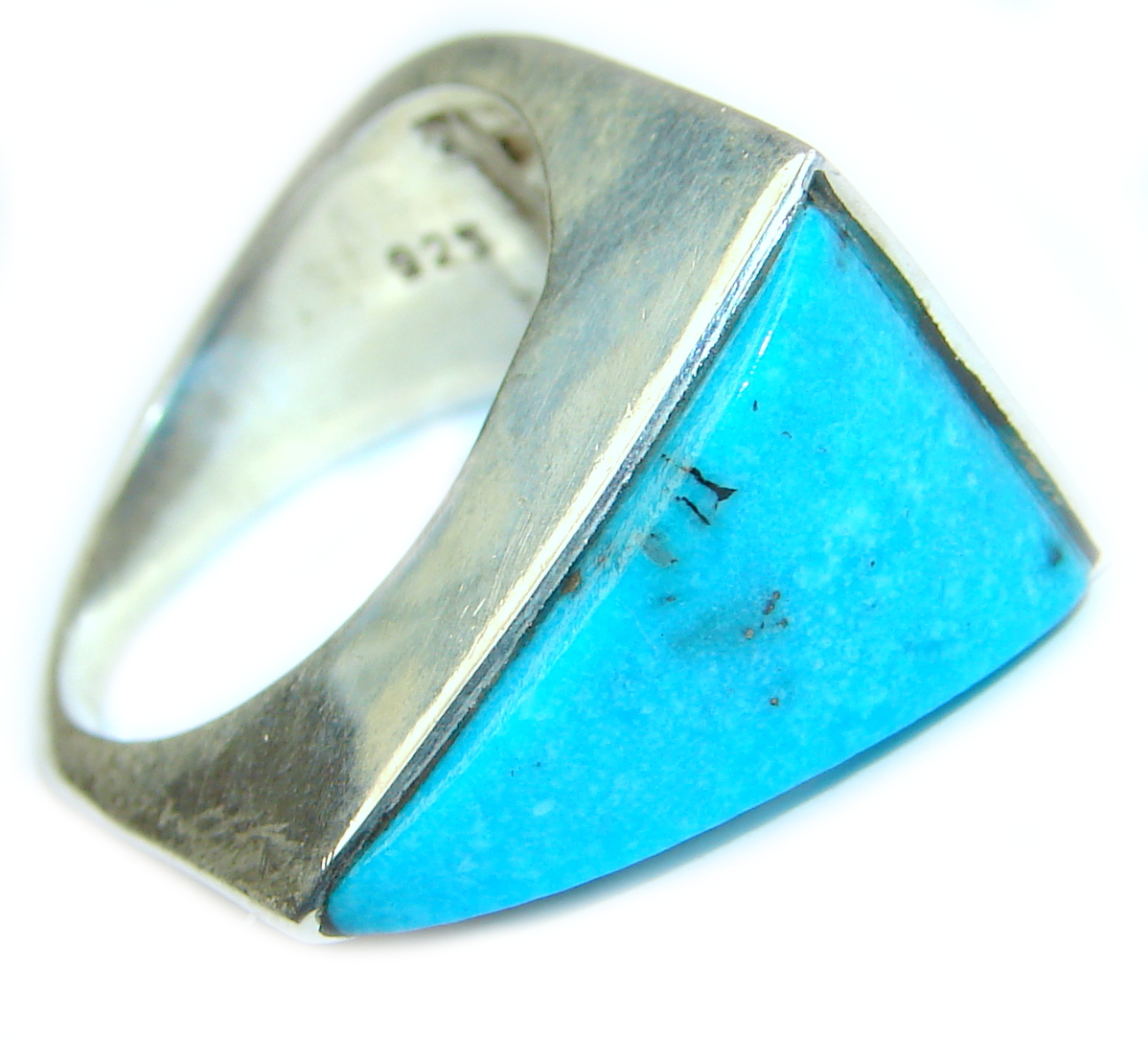 Sleeping Beauty   Turquoise .925 Sterling Silver ring; s. 8
