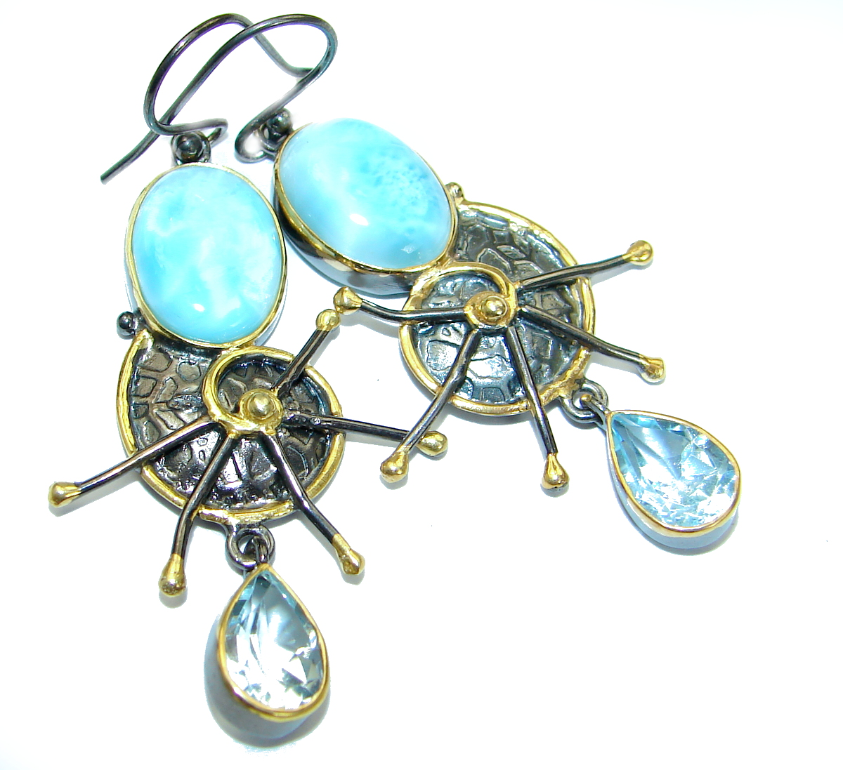 Ocean's Treasure Precious Blue Larimar .925  Sterling