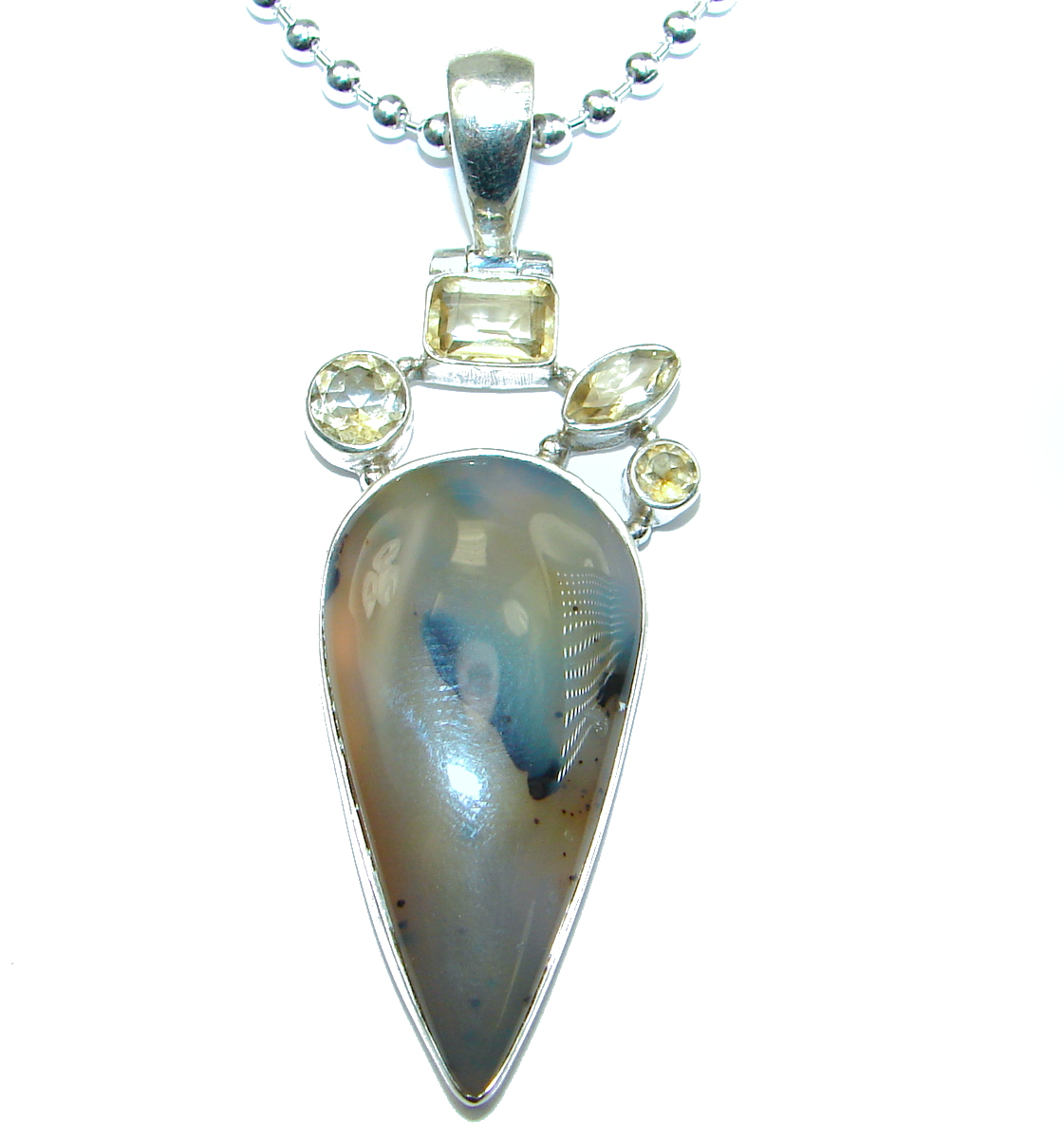 Great Impression Scentic Agate Sterling Silver necklace