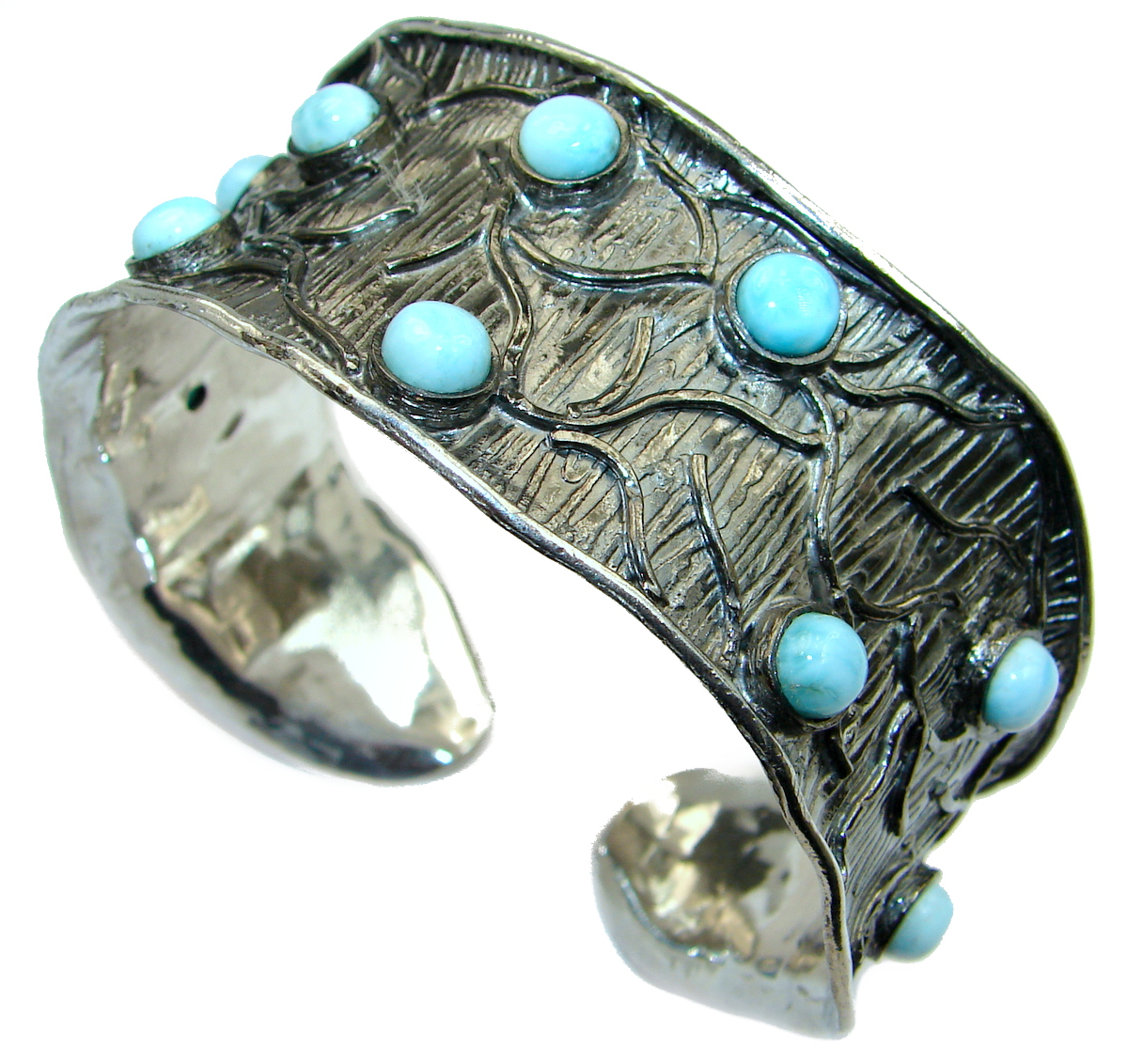 Genuine_Blue_Larimar_Black_Rhodium_over_.925_Sterling_Silver_handmade_Bracelet_Cuff