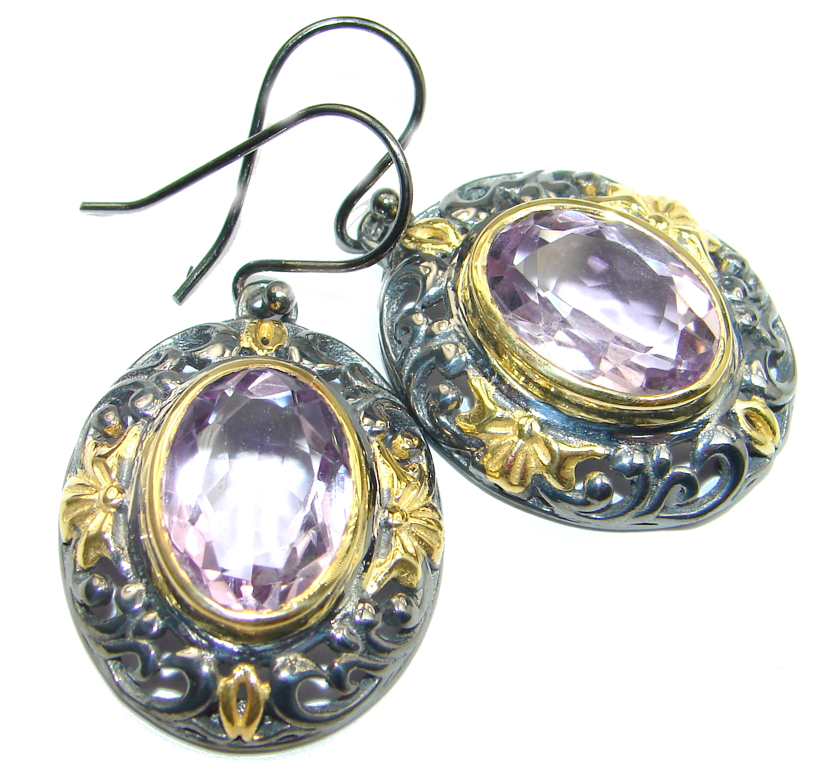 Authentic   Amethyst 18k Gold over .925 Sterling