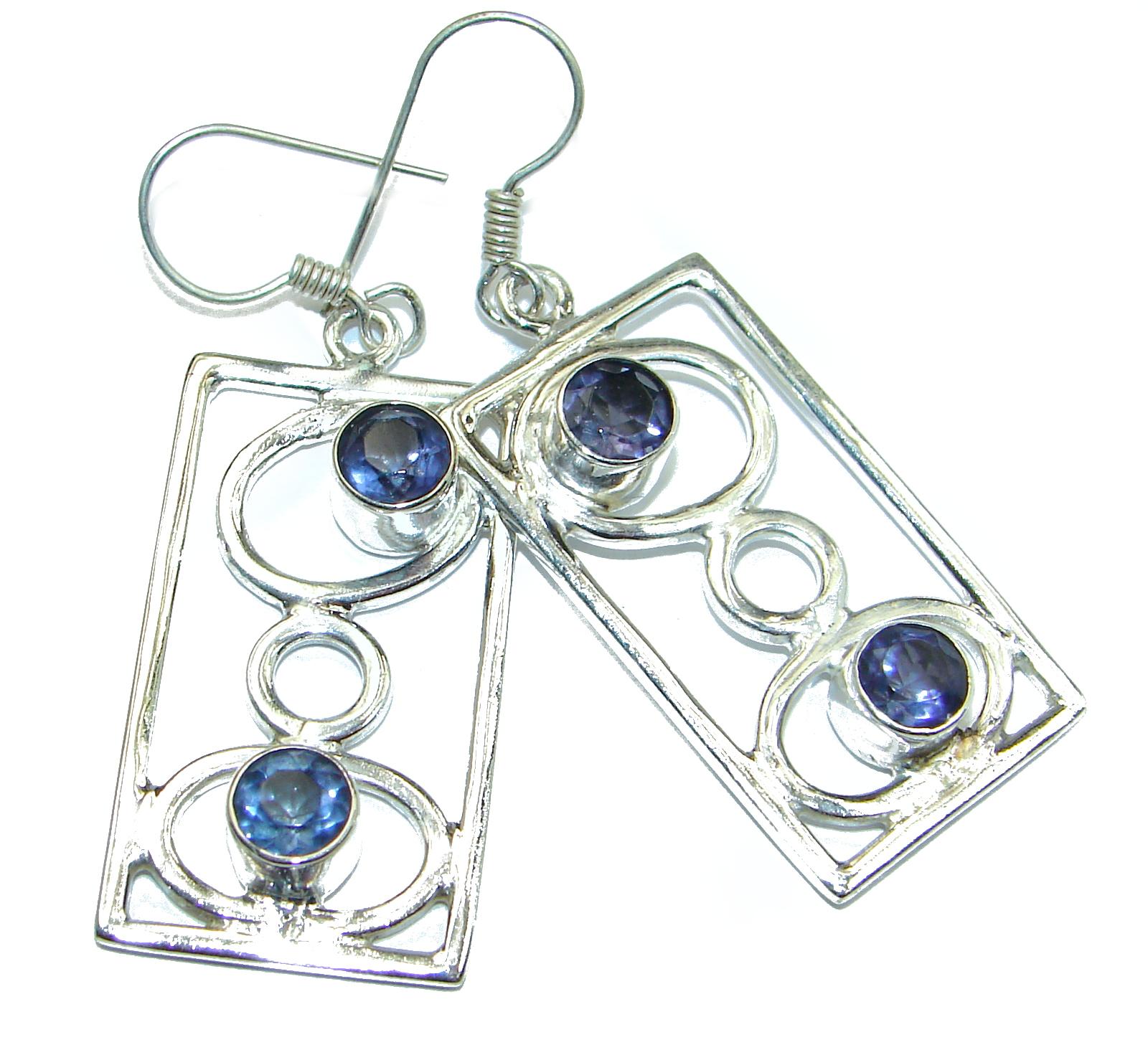 Secret Beauty Purple Iolite .925Sterling Silver earrings