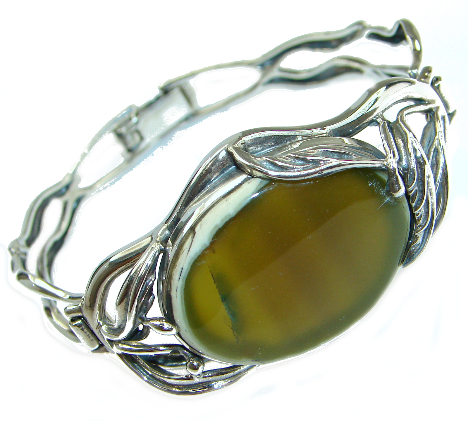 Bohemian Style Excellent quality Imperial Jasper .925 Sterling Silver Bracelet