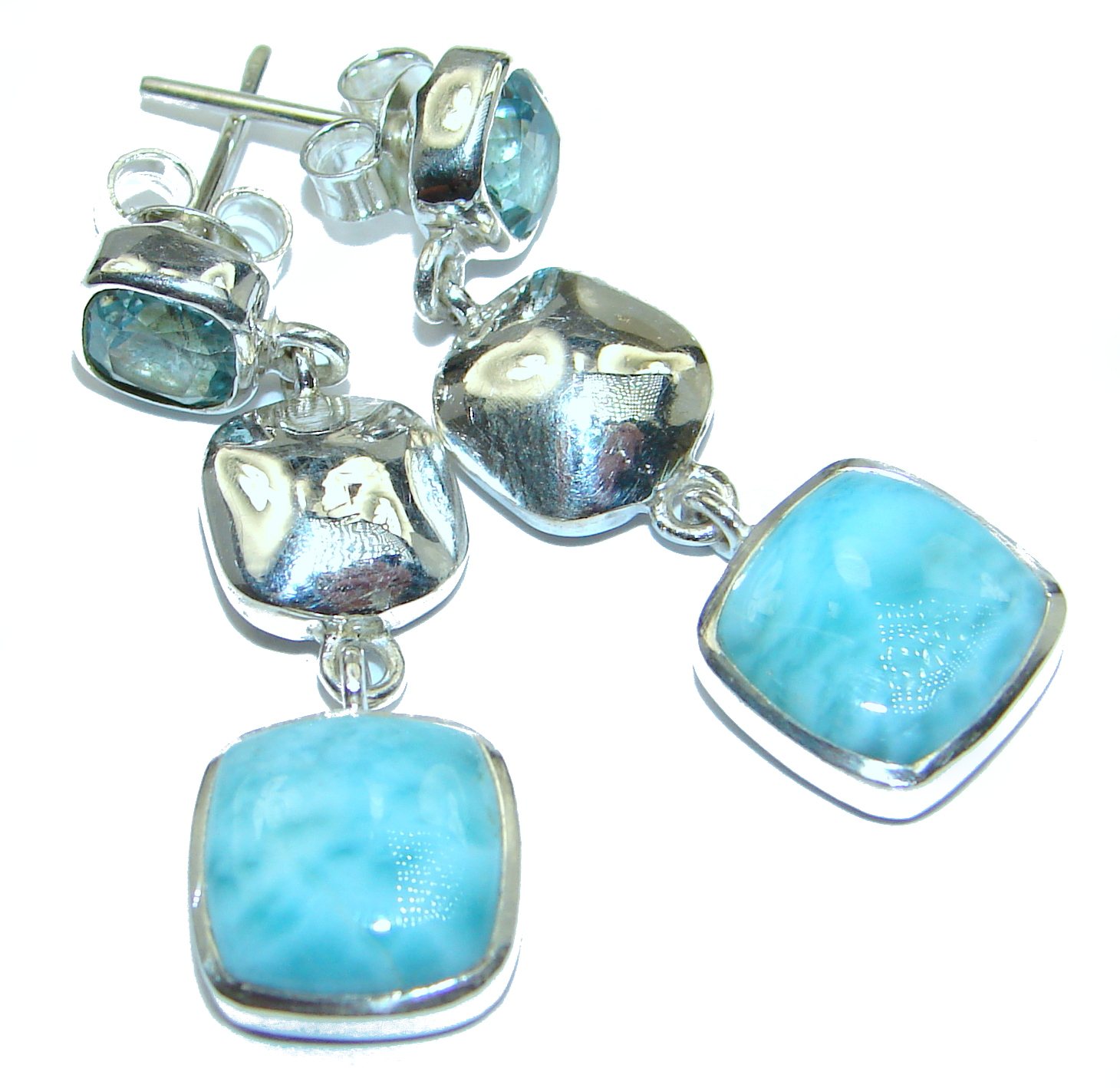 Rich Design Larimar Swiss Blue Topaz  .925