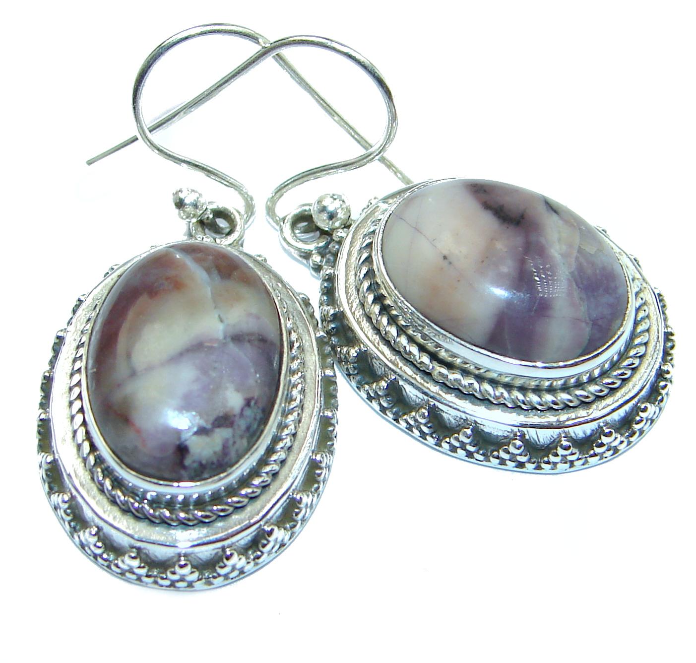 Amazing Tiffany Jasper .925 Sterling Silver Earrings