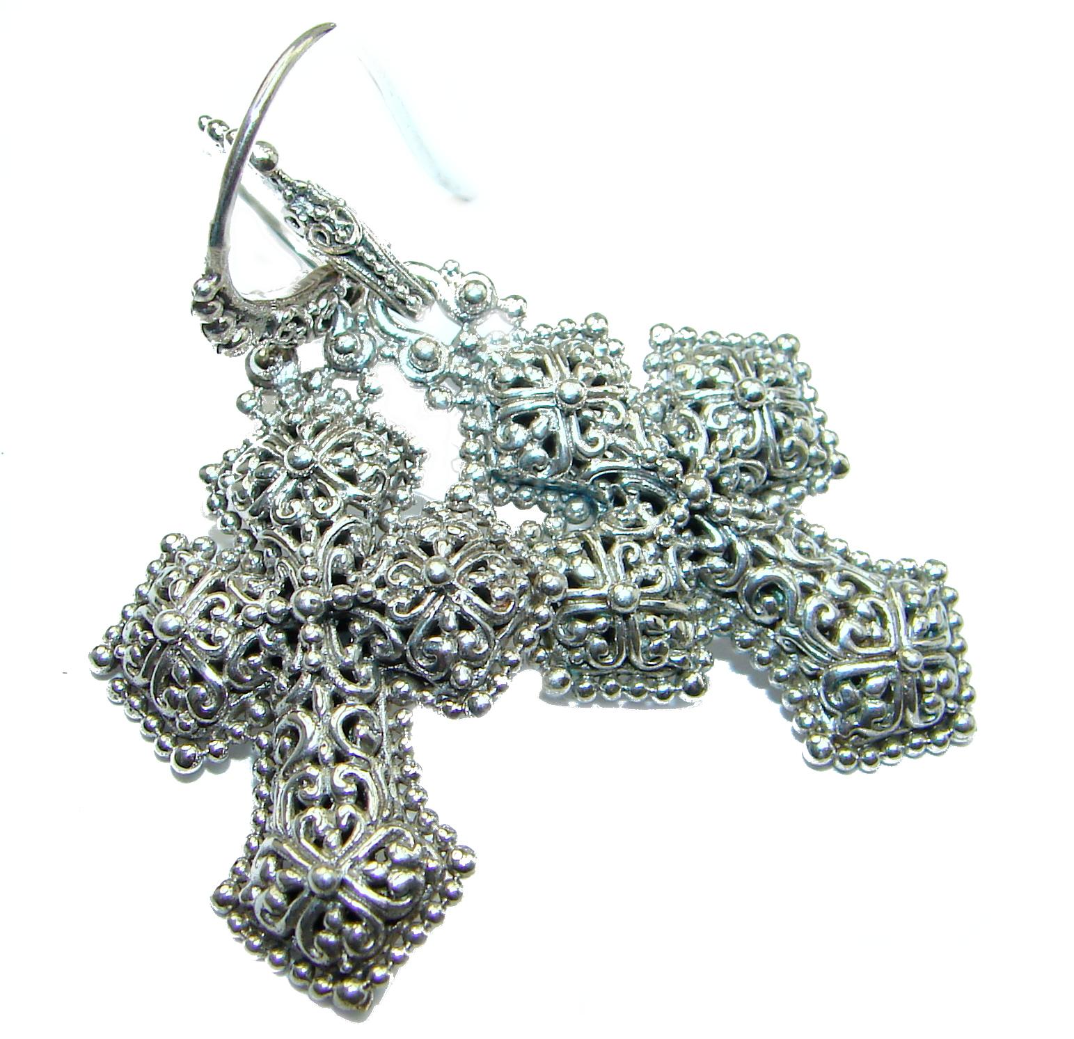 Holy Cross   .925 Sterling Silver handmade earrings