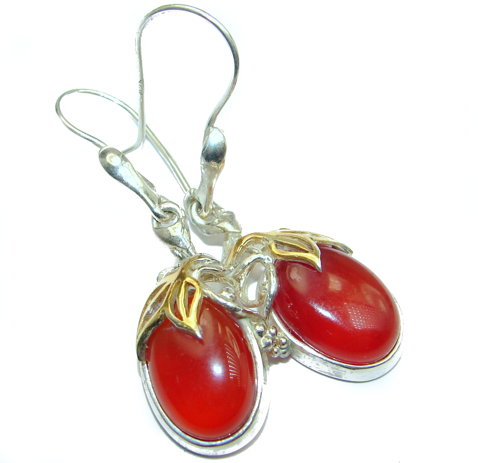 Sublime Orange Carnelian  .925 Sterling Silver handmade
