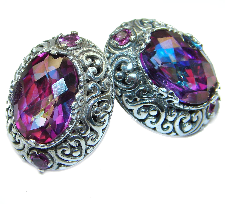 Purple Rain Magic Topaz .925 Sterling Silver handmade earrings
