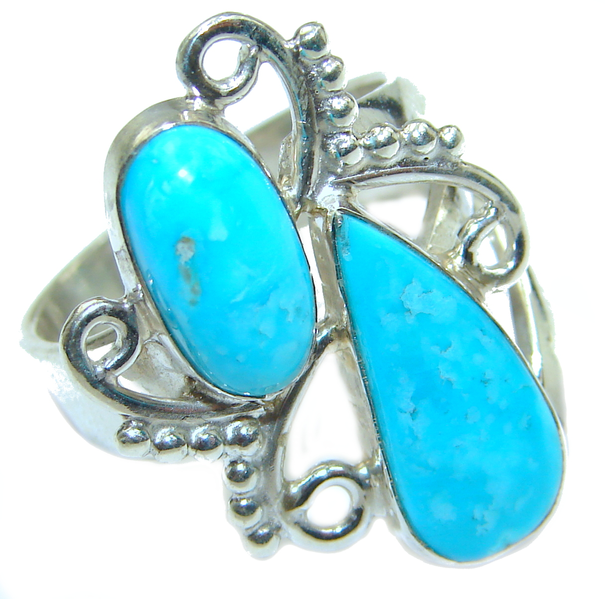 Genuine Sleeping Beauty Turquoise .925 Sterling Silver handcrafted Ring size 7
