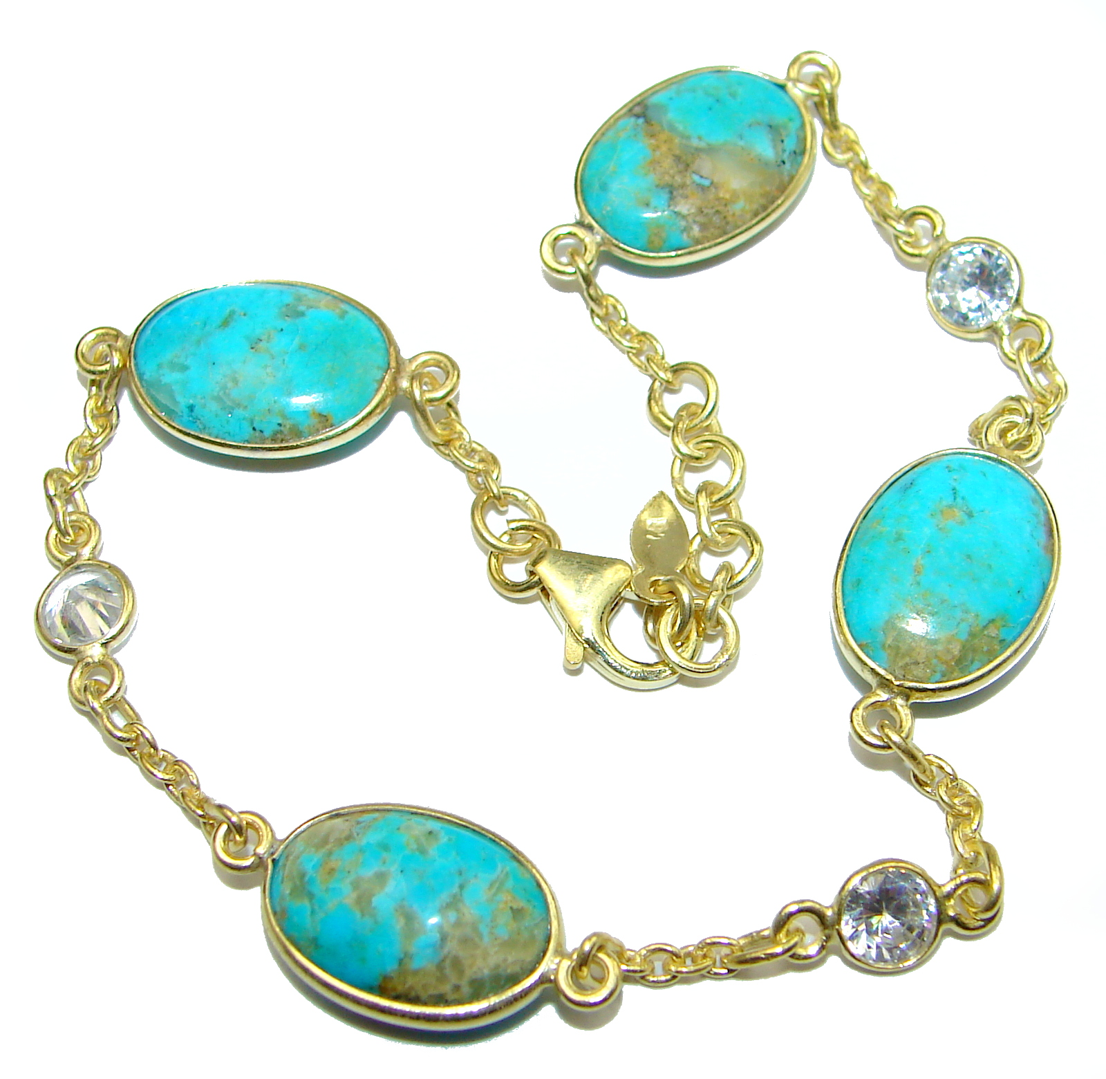 Natural Beauty Turquoise .925 Sterling Silver handmade Bracelet