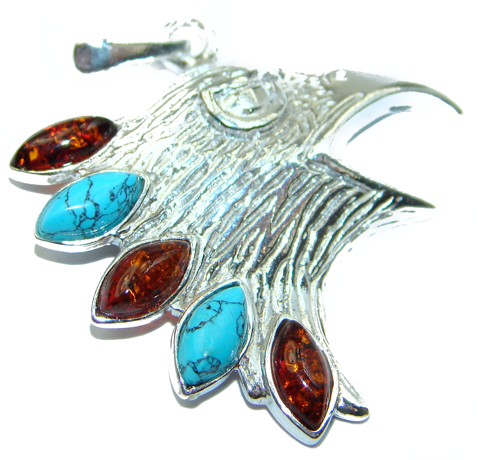 Eagle-s Head .925 Sterling Silver handcrafted  Pendant